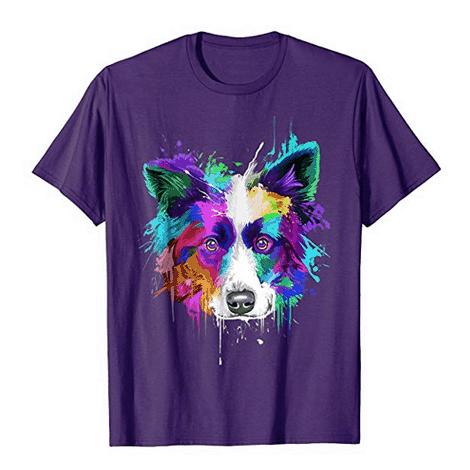 Border Collie Splash Art Shirt