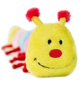 caterpillar dog toy