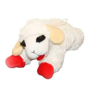 lamb chop plush dog toy