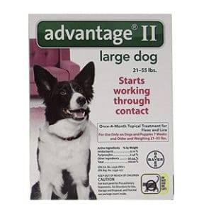 advantage II topical flea treatment for dogs
