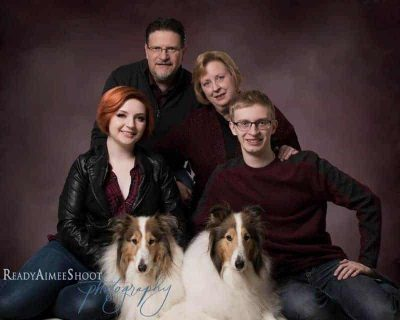 Rough Collie family photo